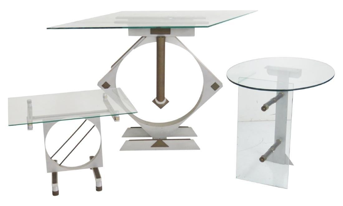 3 STUDIO MID CENTURY MODERN TABLES