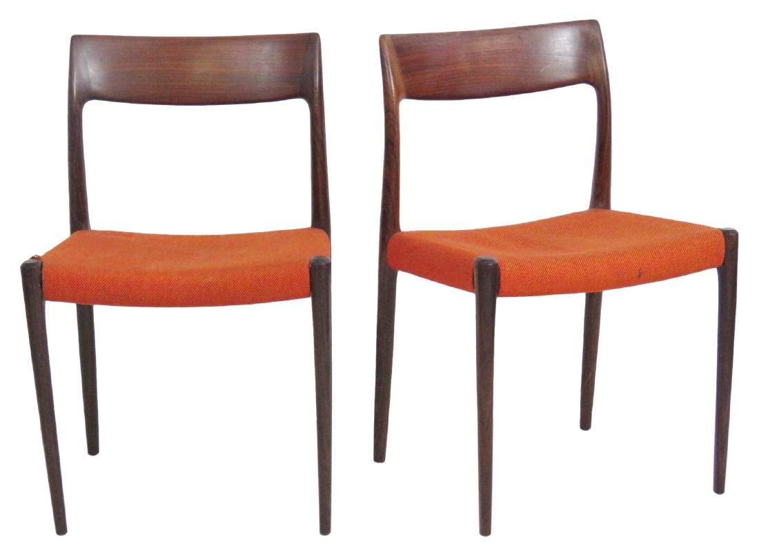 Pair MOLLER ROSEWOOD CHAIRS