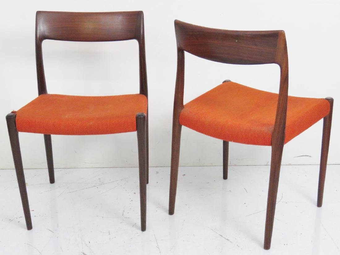Pair MOLLER ROSEWOOD CHAIRS - 5