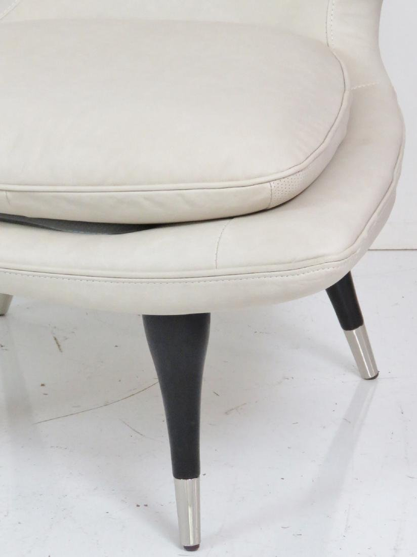 Pair KARPEN STYLE LEATHER HORN CHAIRS - 3