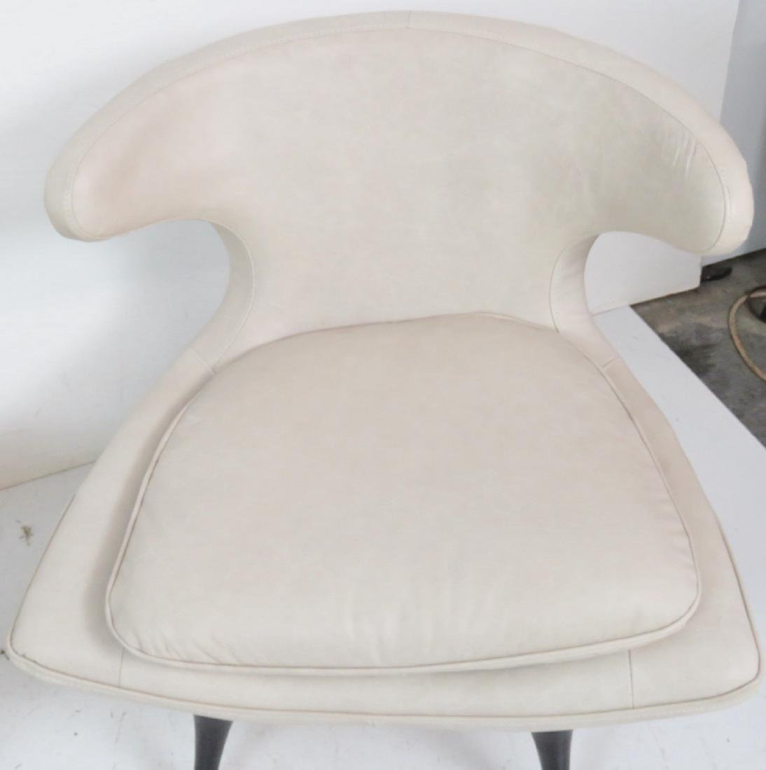Pair KARPEN STYLE LEATHER HORN CHAIRS - 4