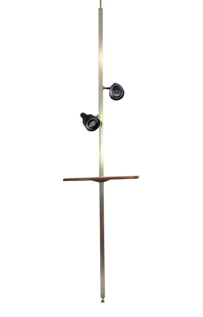 MODERN DESIGN ADJUSTABLE WALNUT FLOOR LAMP by