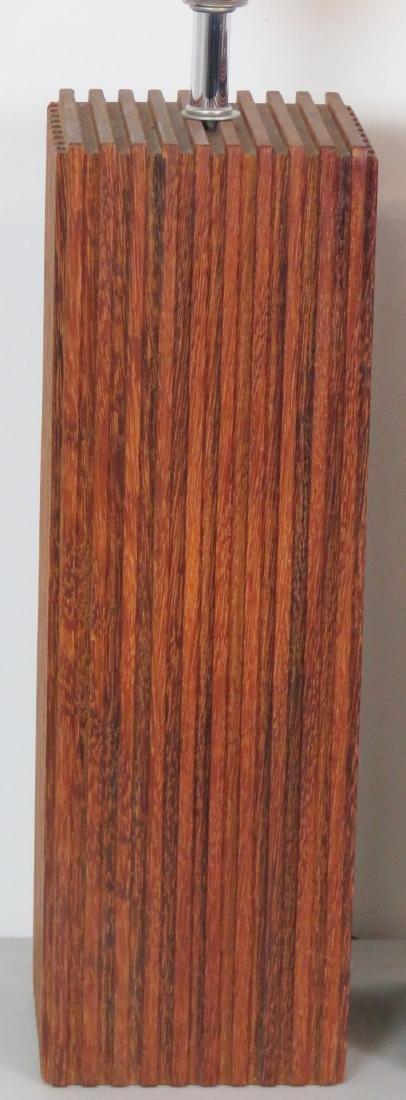 Pair MID CENTURY MODERN WOOD STUDIO TABLE LAMPS - 2