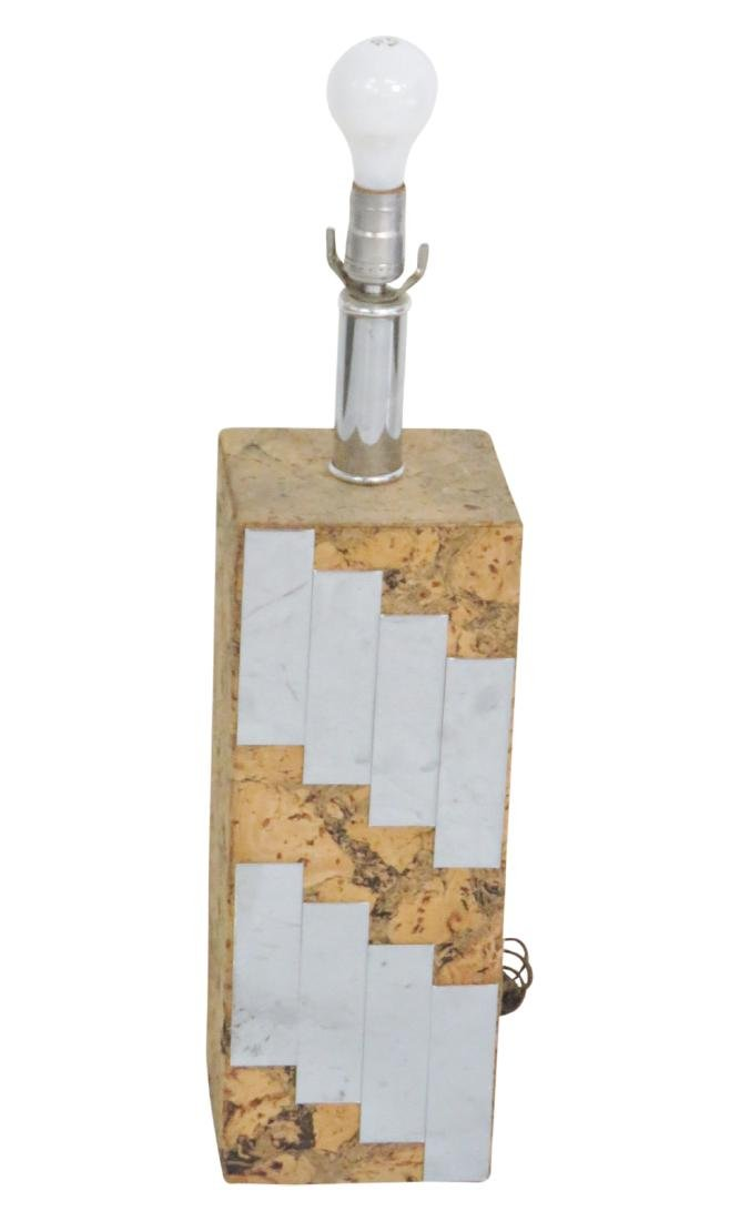 PAUL EVANS STYLE CORK & MIRRORED LAMP
