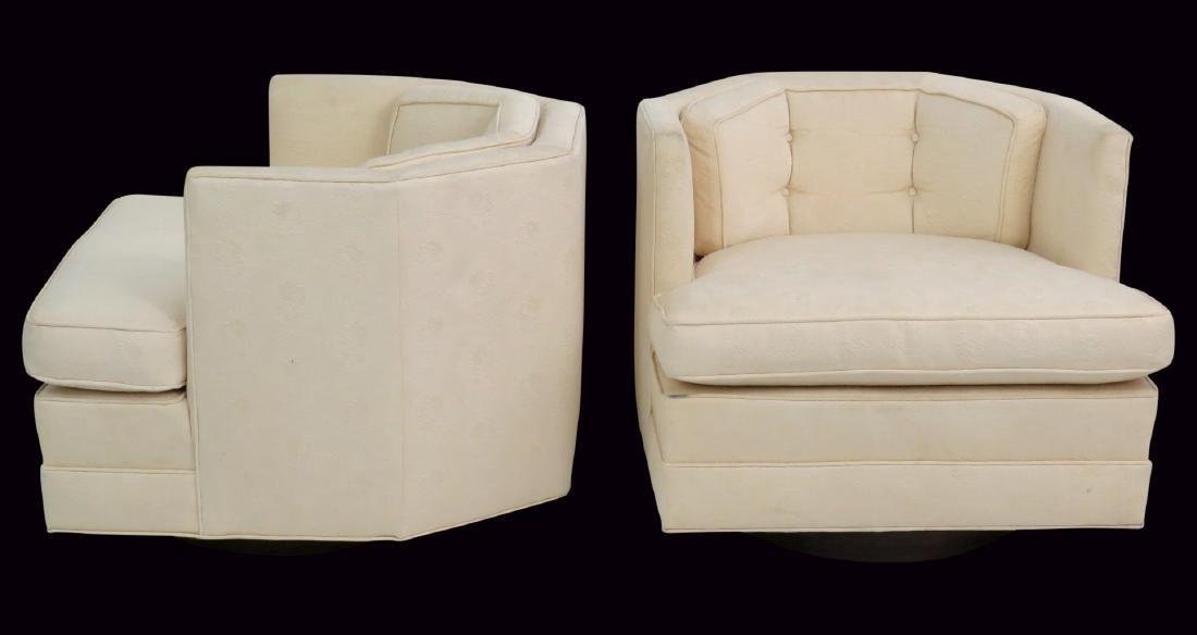 Pair MODERN DESIGN SWIVEL LOUNGE CHAIRS
