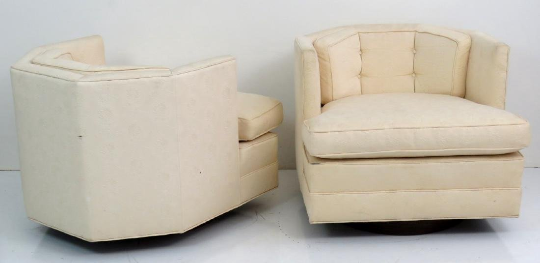 Pair MODERN DESIGN SWIVEL LOUNGE CHAIRS - 6