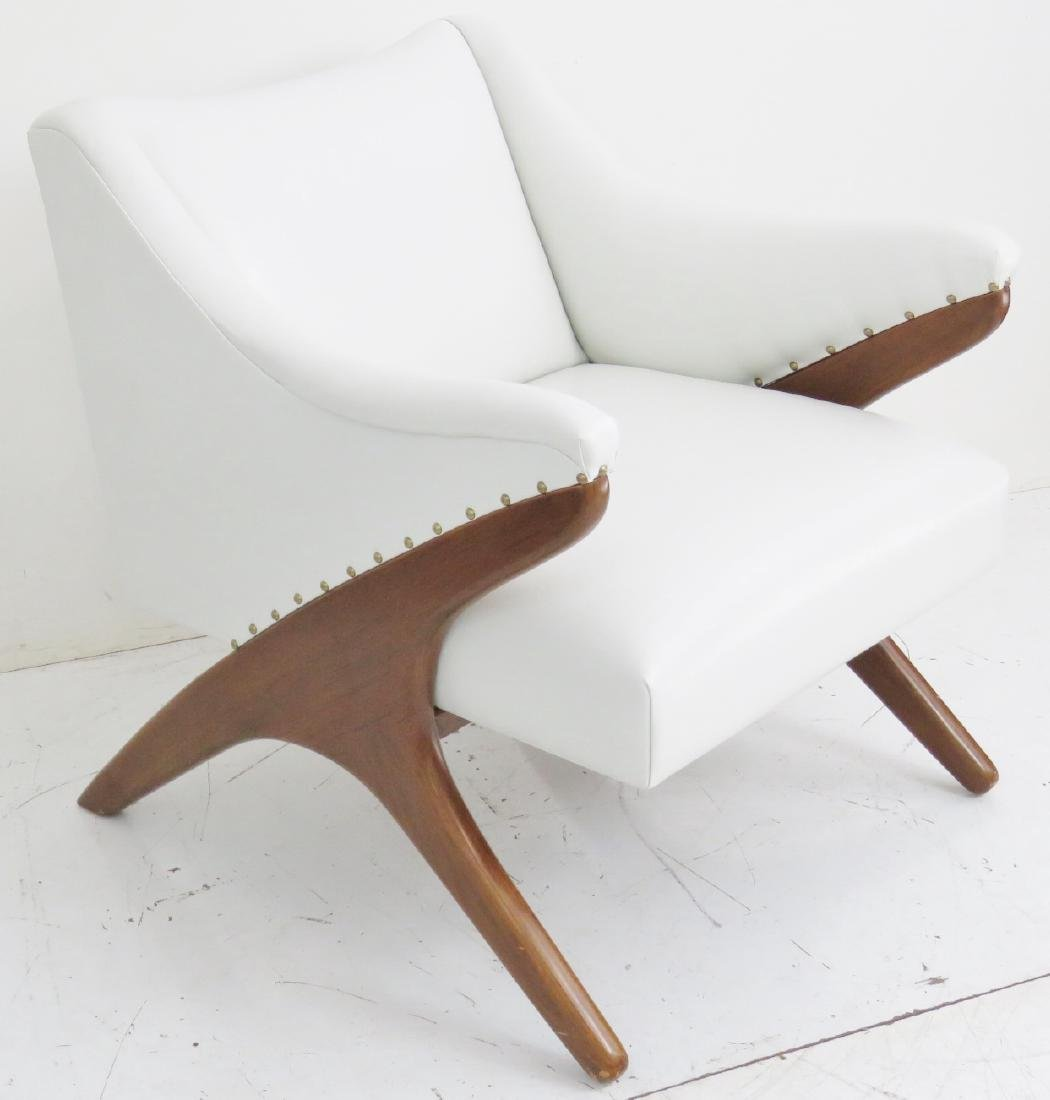 KAGAN STYLE UPHOLSTERED LOUNGE CHAIR - 2