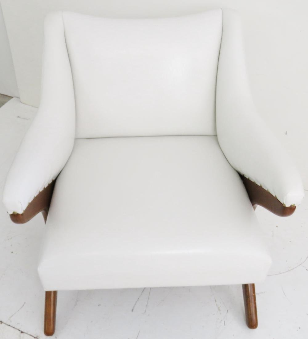 KAGAN STYLE UPHOLSTERED LOUNGE CHAIR - 4