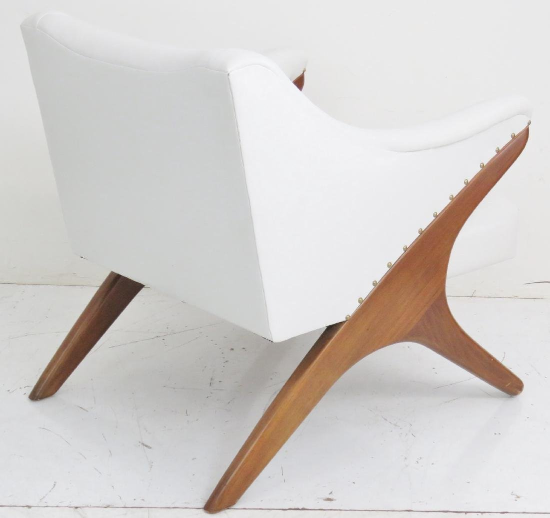 KAGAN STYLE UPHOLSTERED LOUNGE CHAIR - 5