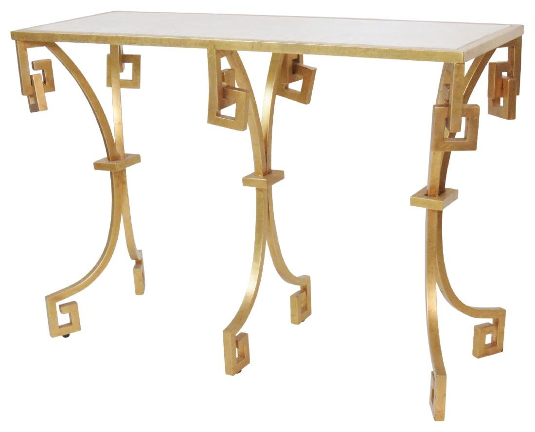 JONATHAN CHARLES MODERN DESIGN GILT PAINTED CONSOLE