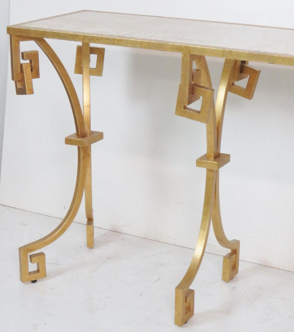 JONATHAN CHARLES MODERN DESIGN GILT PAINTED CONSOLE - 3