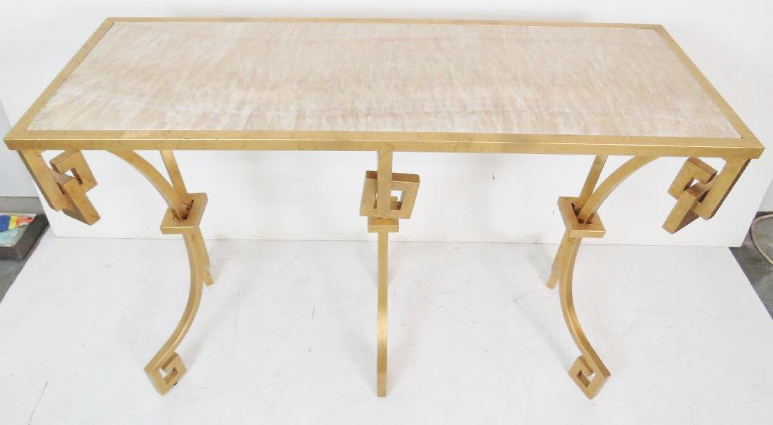 JONATHAN CHARLES MODERN DESIGN GILT PAINTED CONSOLE - 4