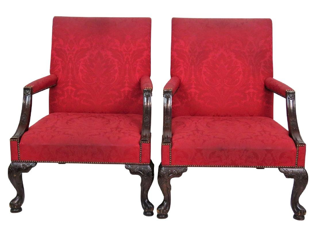 Pair BAKER GEORGIAN STYLE LOLLING CHAIRS