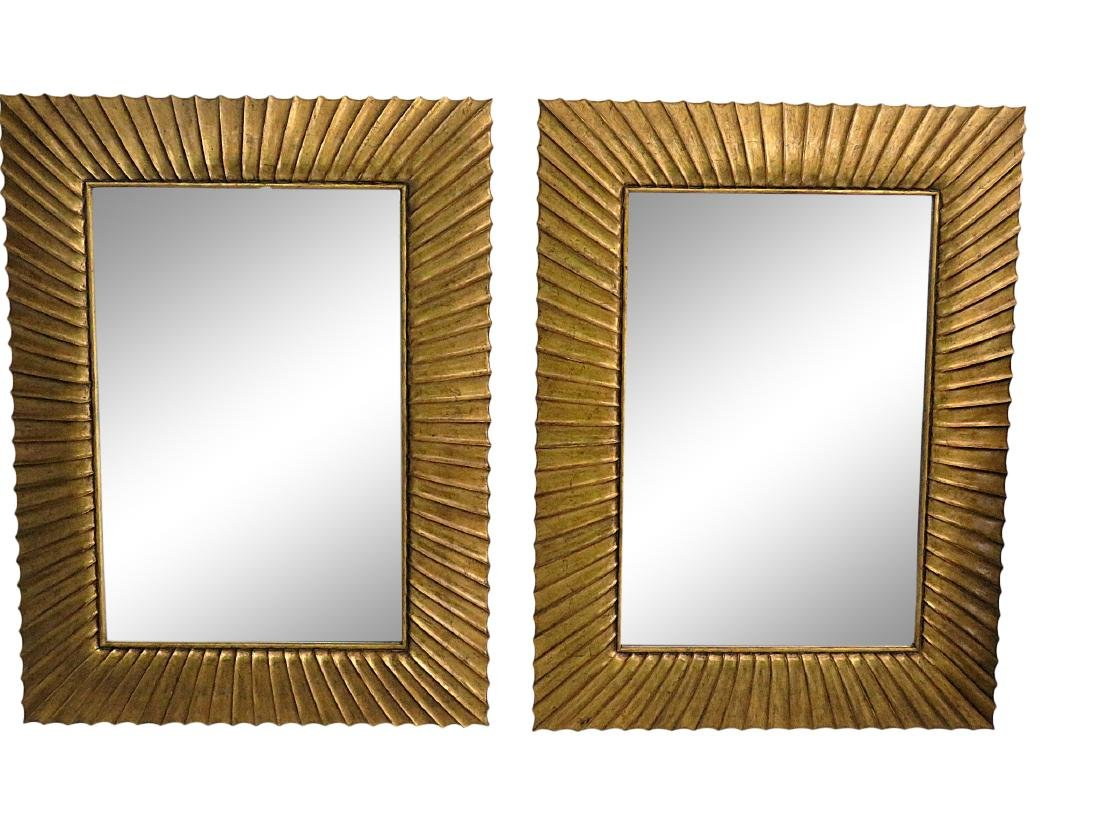 Pair HARRISON GILL BEVEL GLASS MIRRORS