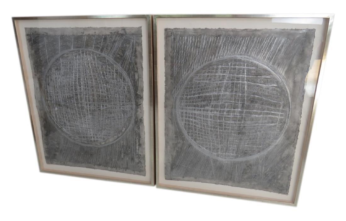 Pair TERRY WINTERS MIXOGRAFIA PRINTS ON PAPER