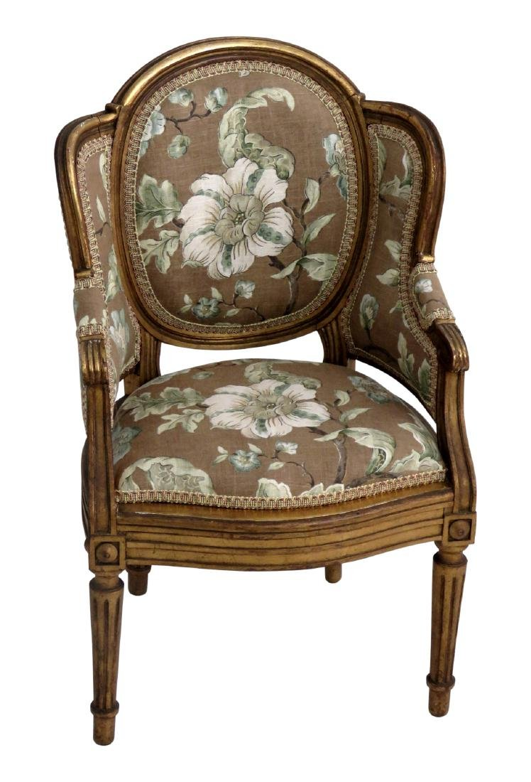 CHILDS FRENCH BERGERE CHAIR