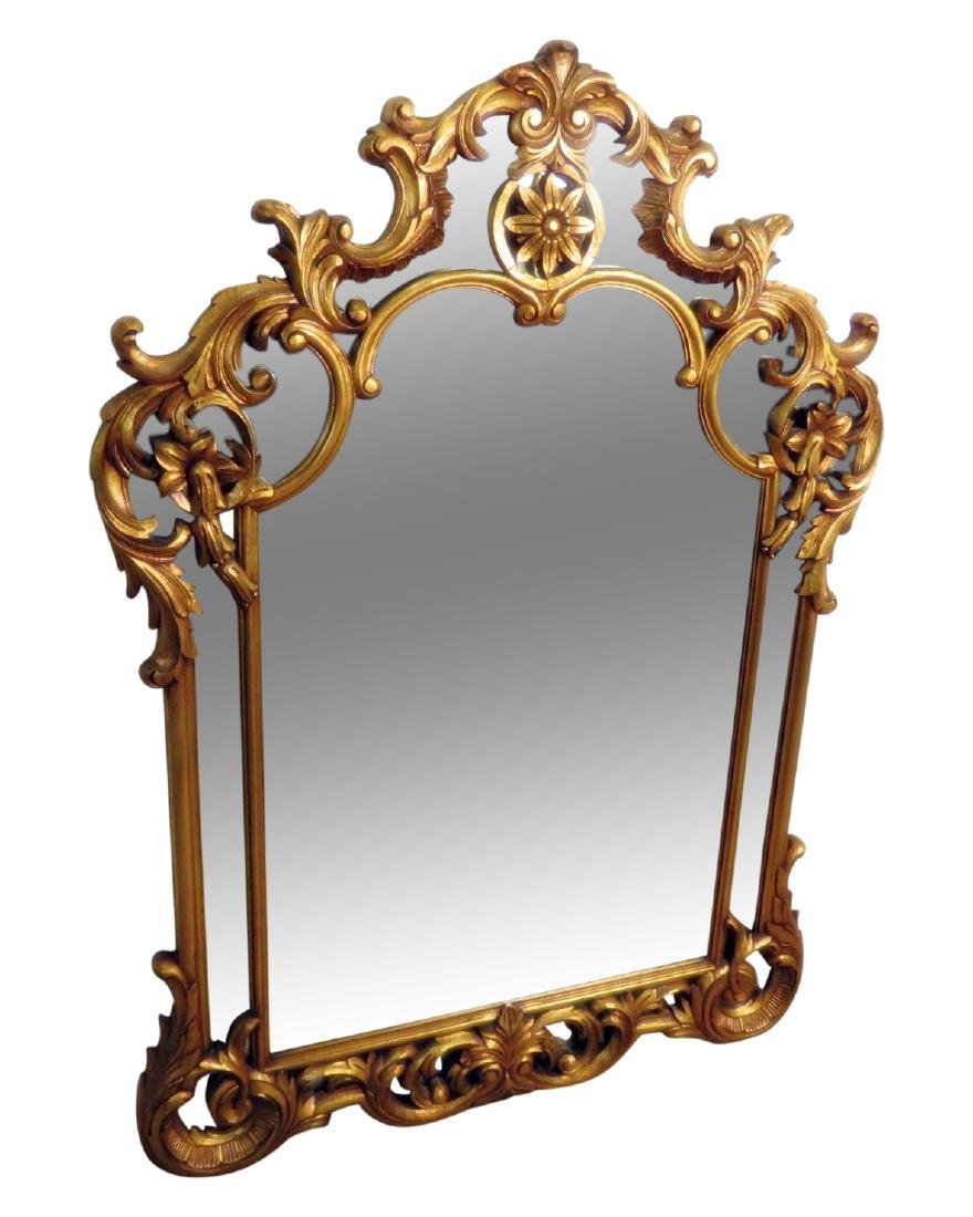 CARVED GILT WOOD HANGING MIRROR