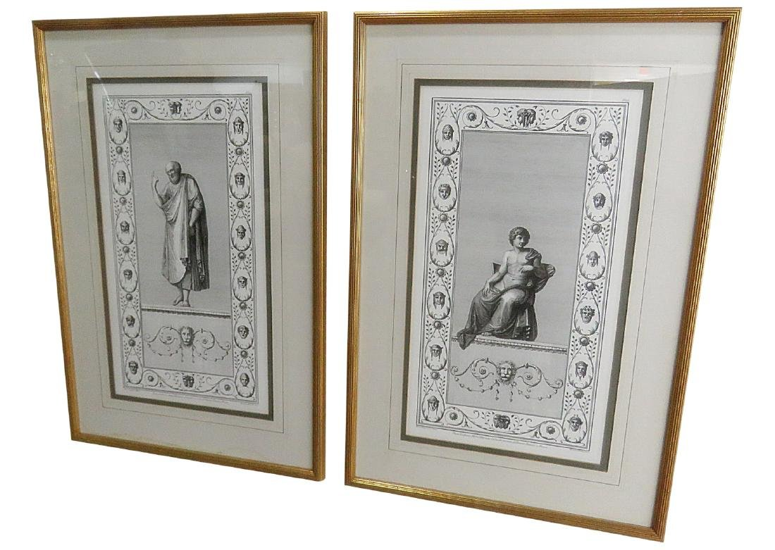 Companion Pair NEOCLASSICAL STYLE PRINTS