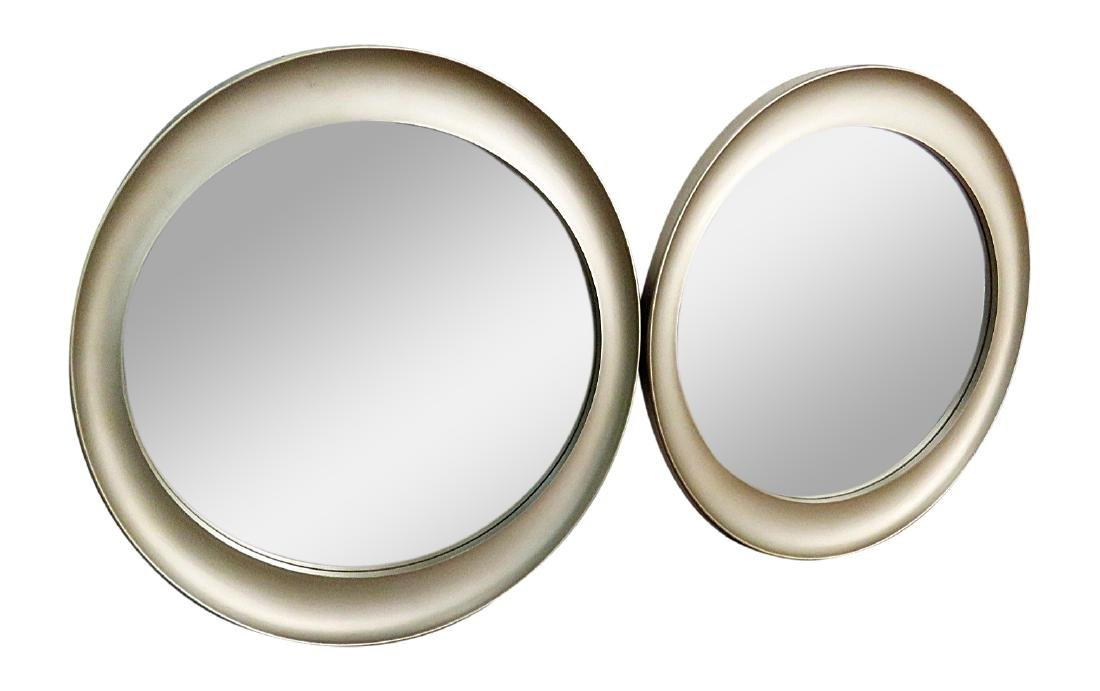 Pair DECO INSPIRED SILVER MIRRORS