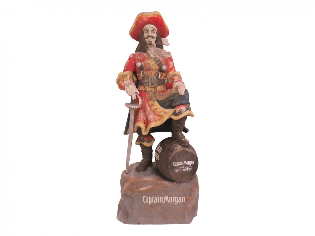 LARGE CAPTAIN MORGAN STATUE