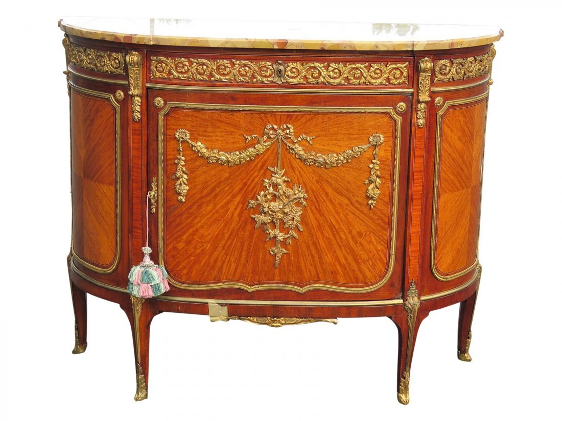 LOUIS XV STYLE MARBLE TOP CONSOLE attr. LINKE