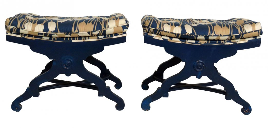 Pair MARTIN INDUSTRIES X BENCHES