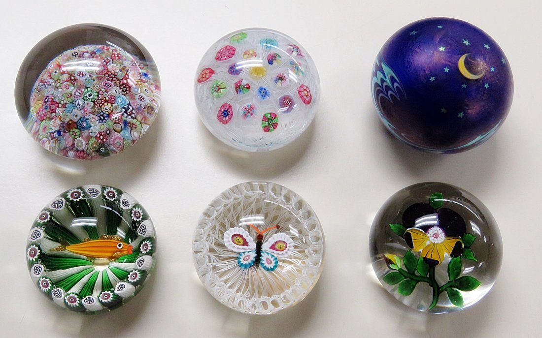 6 DECORATIVE PAPERWEIGHTS