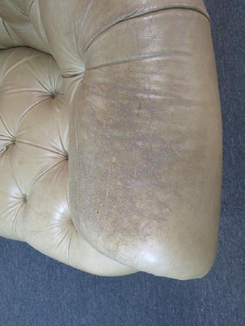 LEATHER CHESTERFIELD SOFA - 4
