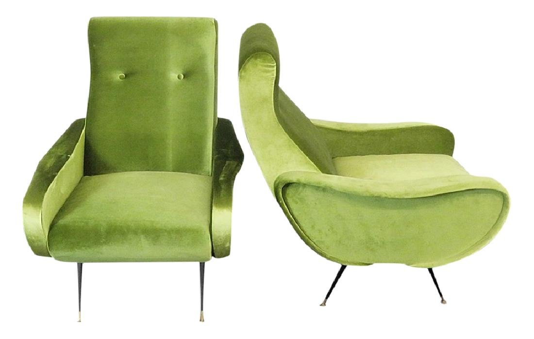 Pair ZANUSO STYLE LOUNGE CHAIRS