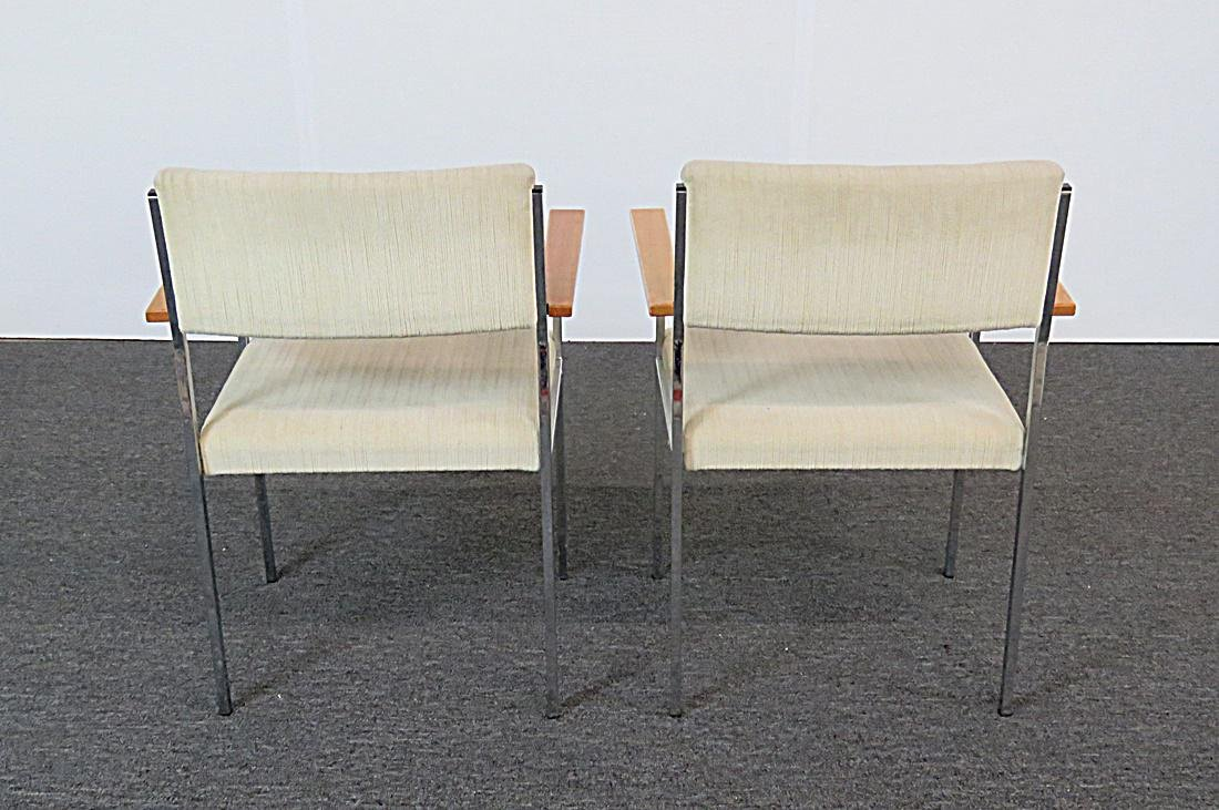 8 CHROME AND UPHOLSTERED ARMCHAIRS - 5