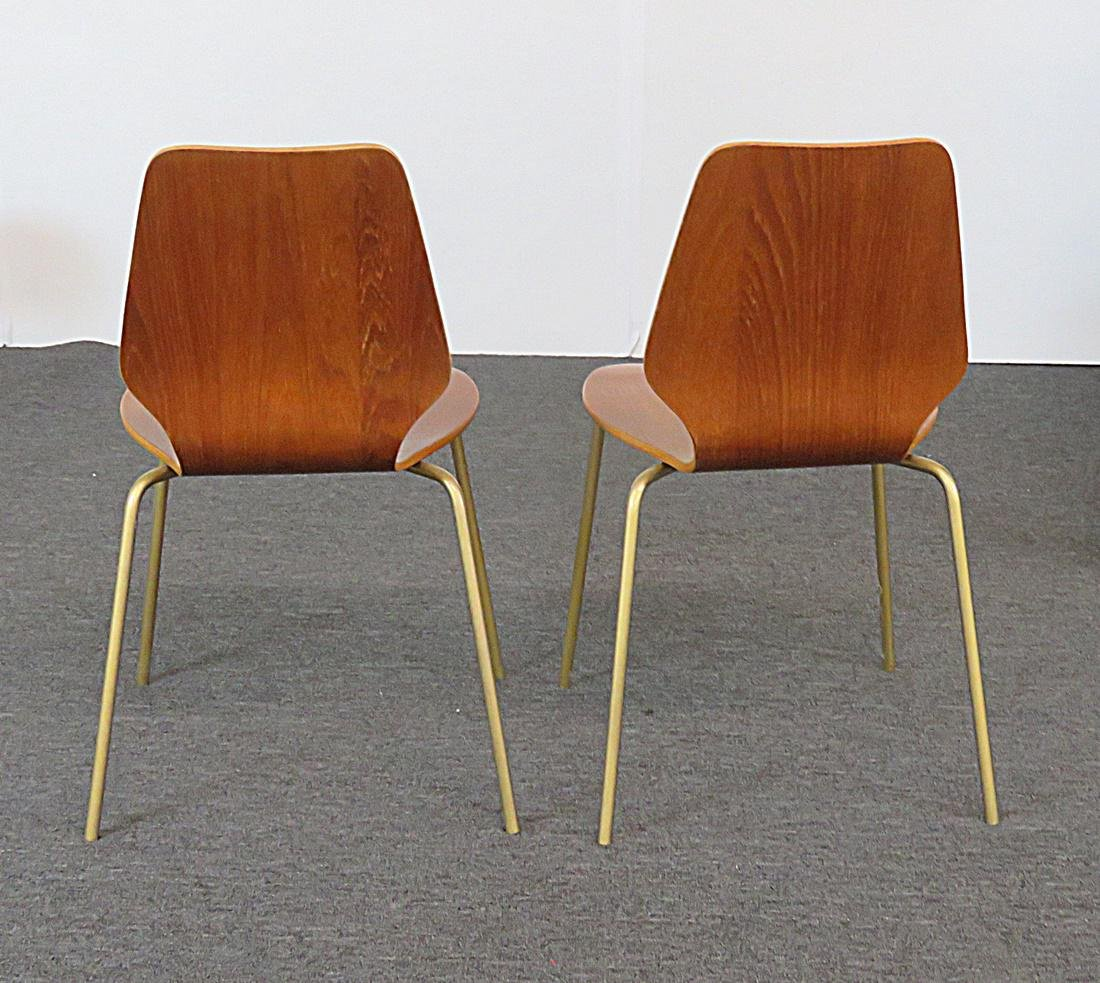 6 BENT PLYWOOD MCM CHAIRS - 4