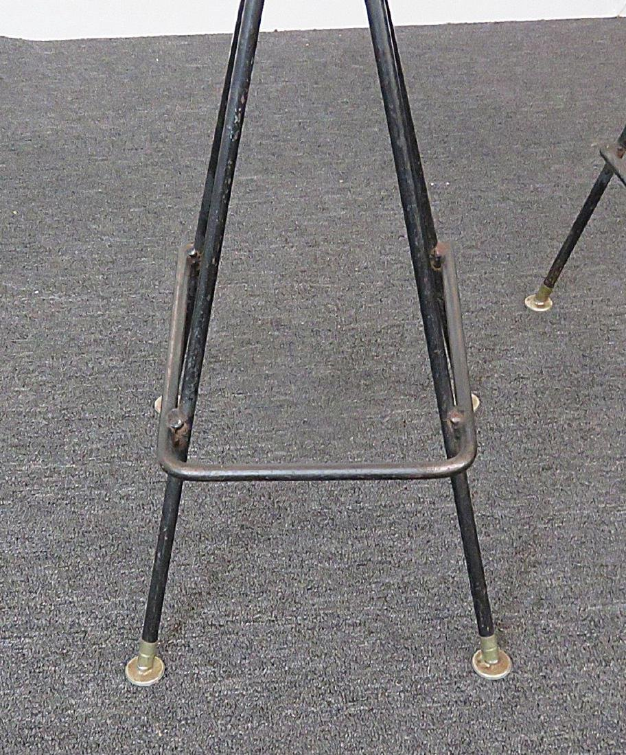 Pair PEARSALL STYLE UPHOLSTERED BAR STOOLS - 4