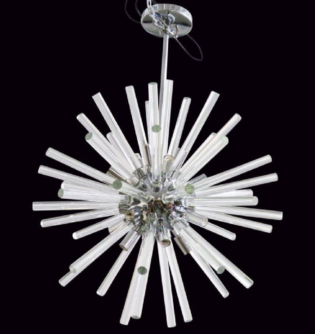 SPUTNIK CHROME & GLASS CHANDELIER