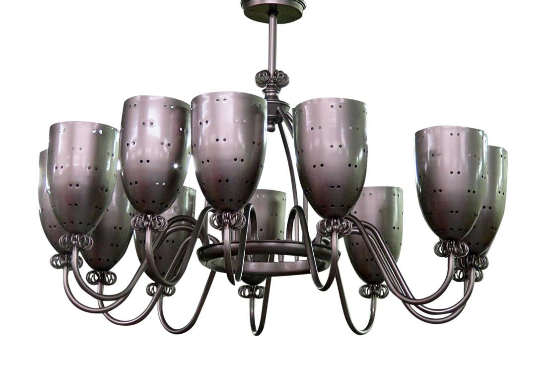 MCM SILVERED CONE CHANDELIER