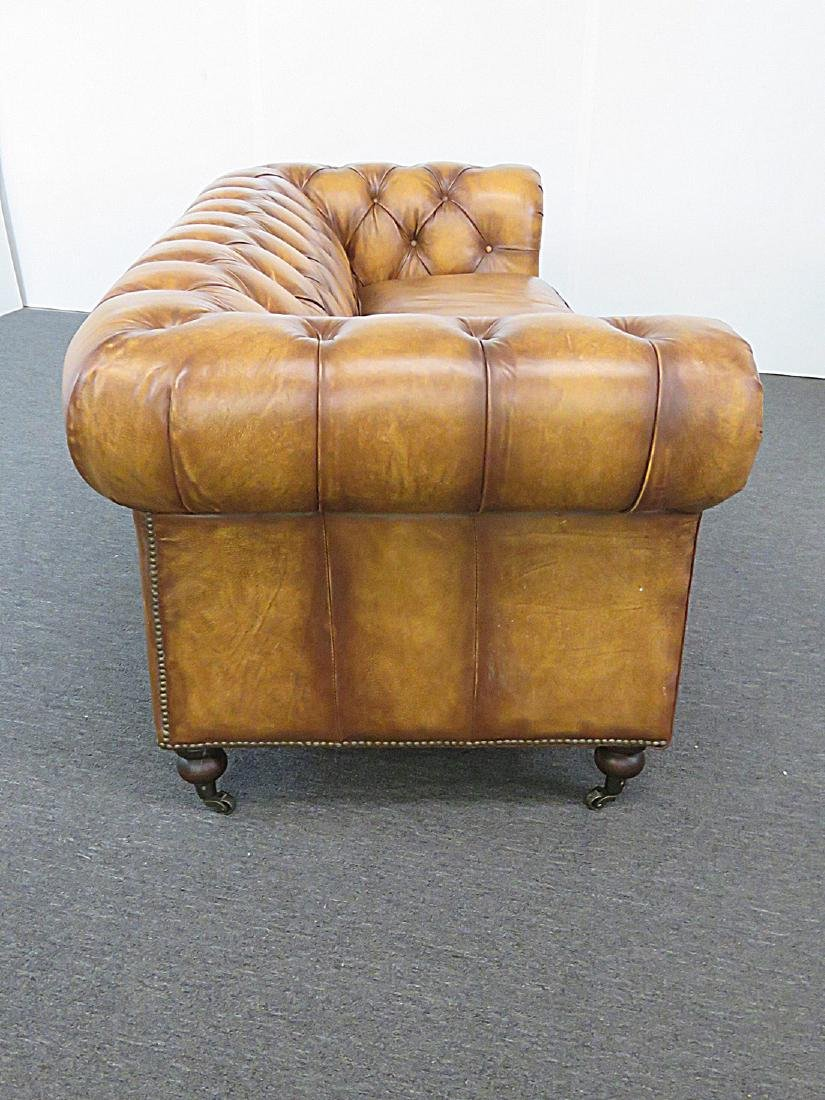 LEATHER CHESTERFIELD SOFA - 3