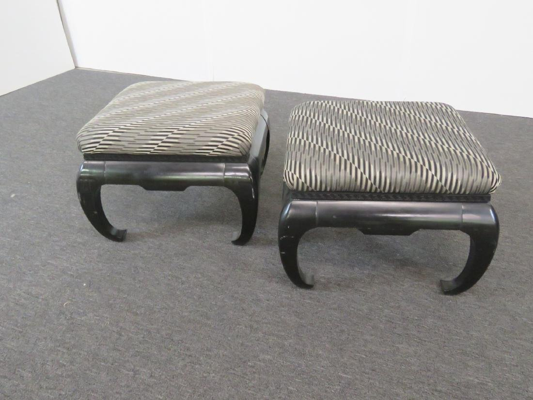 Pair SPRINGER STYLE ASIAN INFLUENCED OTTOMANS - 3