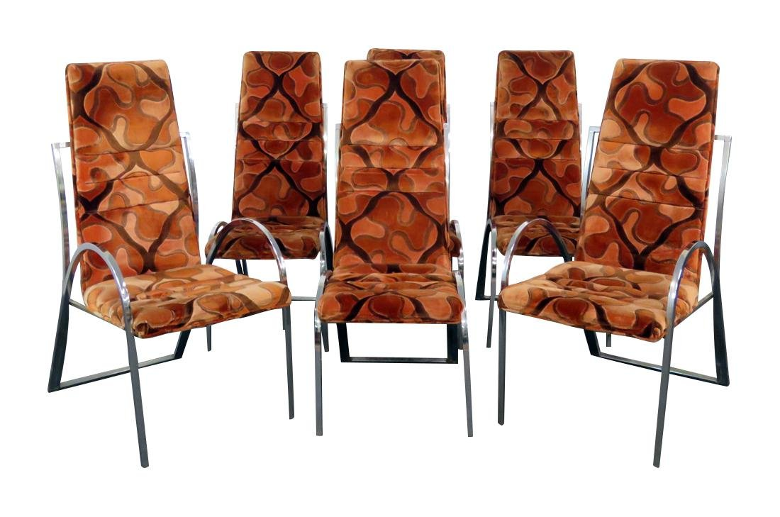 6 MILO BAUGHMAN STYLE CHAIRS