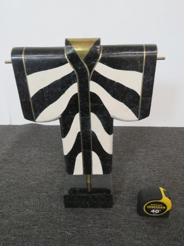 TESSELATED MARBLE KIMONA SCULPTURE - 4