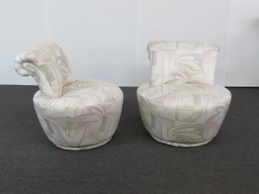 Pair V. KAGAN FOR WEIMAN SWIVEL CHAIRS - 2