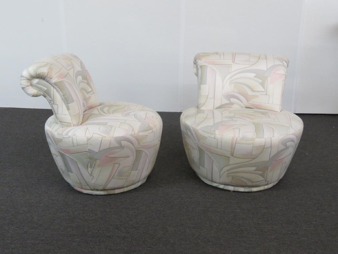 Pair V. KAGAN FOR WEIMAN SWIVEL CHAIRS - 3