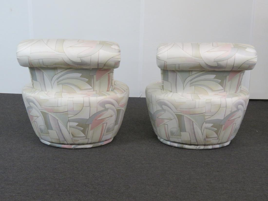 Pair V. KAGAN FOR WEIMAN SWIVEL CHAIRS - 4