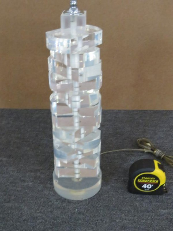 LUCITE LAMP - 3