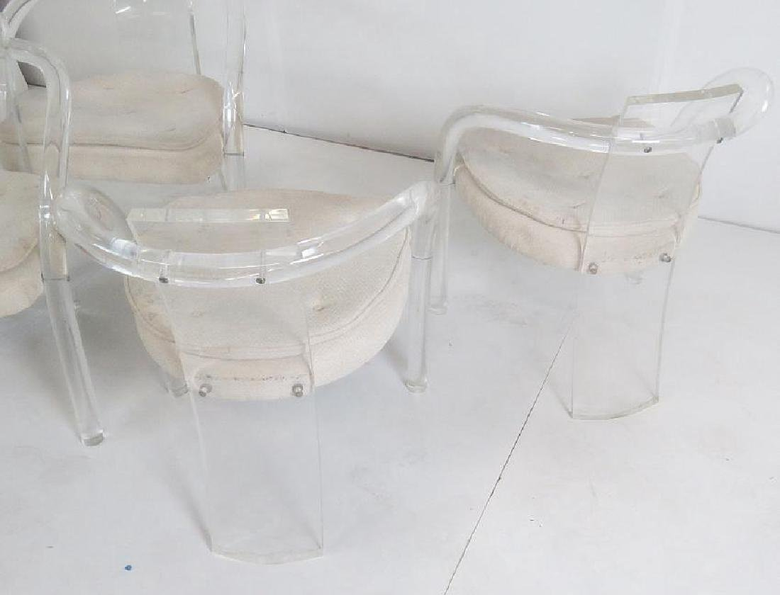 4 MODERN LUCITE DINING CHAIRS - 6