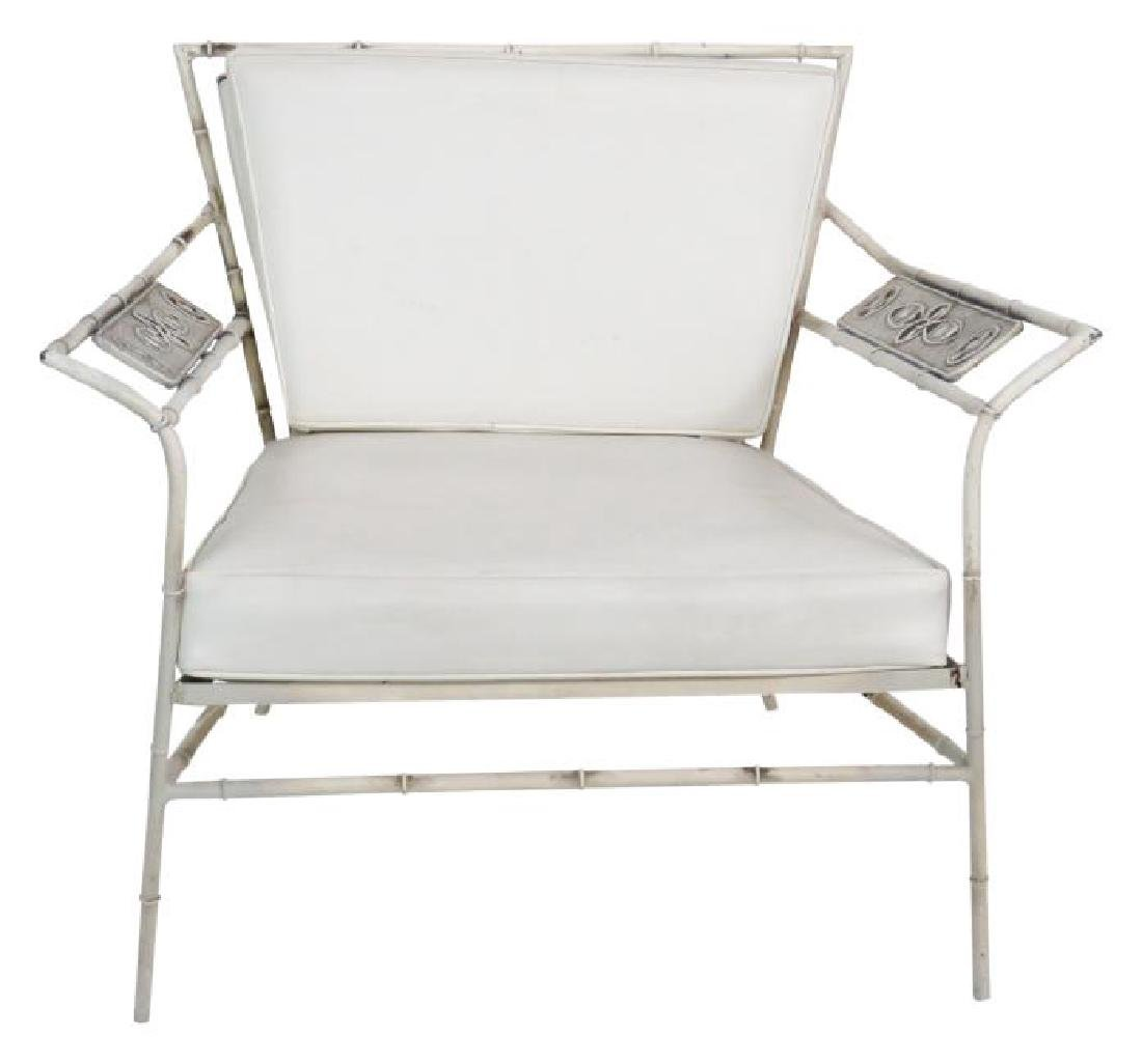SALTERINI FAUX BAMBOO LOUNGE CHAIR