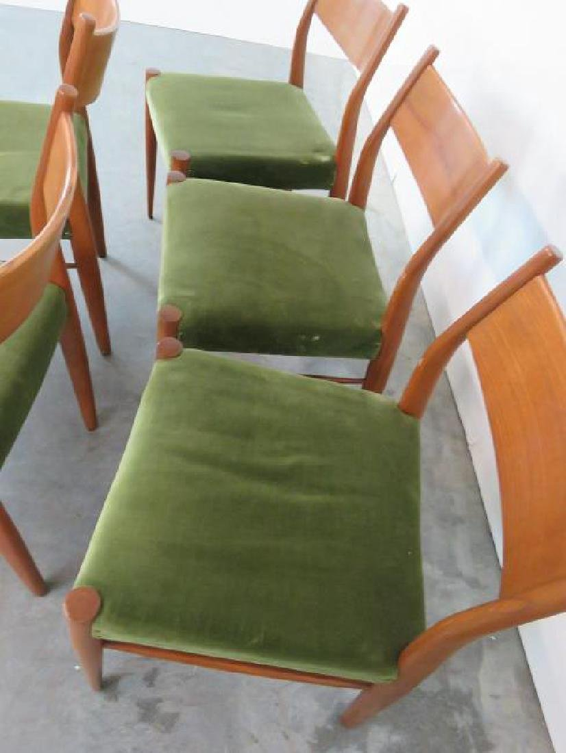 6 DANISH MODERN DINING SIDE CHAIRS - 4