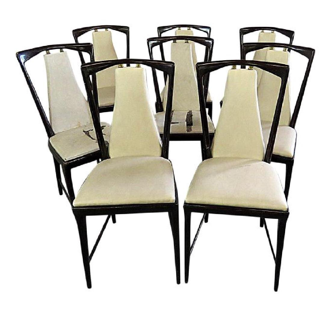 8 BORSANI DINING SIDE CHAIRS