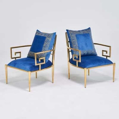 Pair GREEK KEY CHAIRS