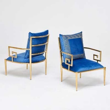 Pair GREEK KEY CHAIRS - 2