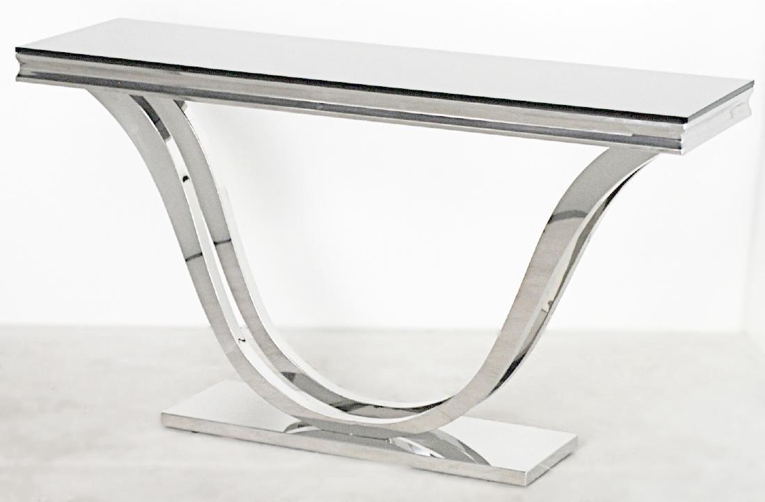 CHROME BASE CONSOLE TABLE