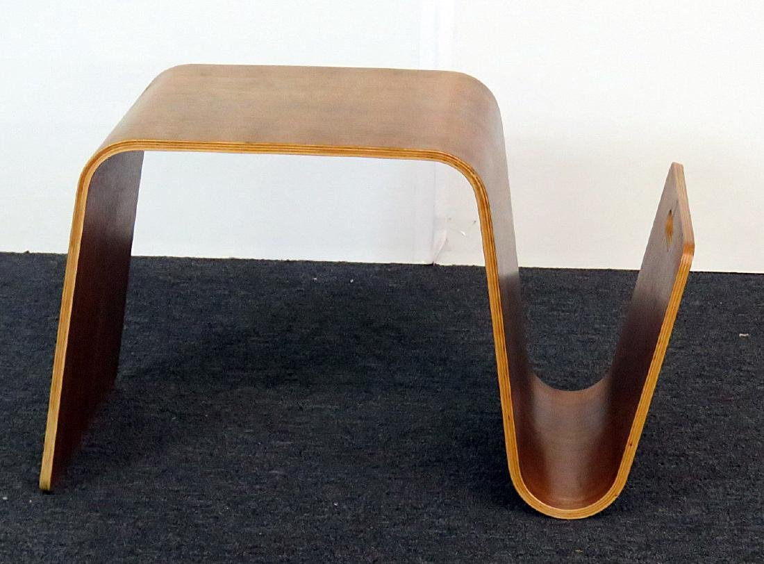 KNOLL STYLE BENTWOOD TABLE MAGAZINE RACK - 2